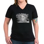 Wild Dryad Women's V-Neck Dark T-Shirt