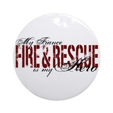 Fiance My Hero - Fire & Rescue Ornament (Round)