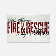 Fiance My Hero - Fire & Rescue Rectangle Magnet