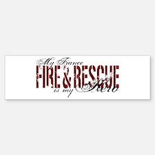 Fiance My Hero - Fire & Rescue Bumper Bumper Bumper Sticker