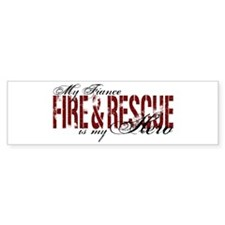 Fiance My Hero - Fire & Rescue Bumper Bumper Sticker
