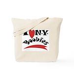 New York Boobies Tote Bag