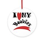 New York Boobies Ornament (Round)