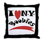 New York Boobies Throw Pillow