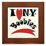 New York Boobies Framed Tile