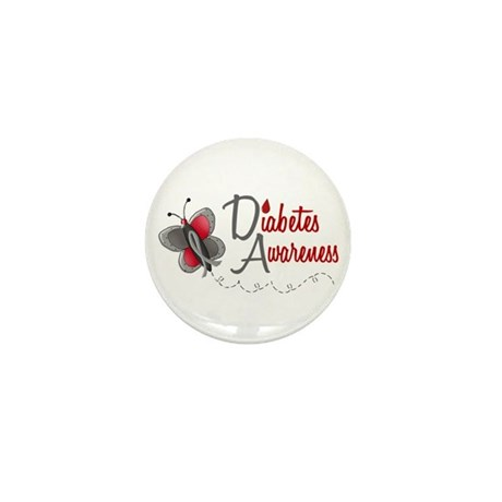 Diabetes Awareness 1 Butterfly 2 Mini Button