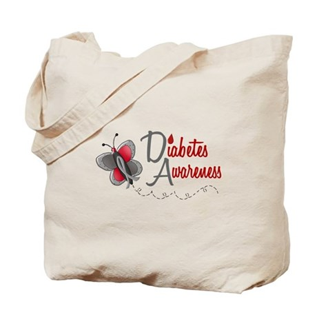 Diabetes Awareness 1 Butterfly 2 Tote Bag