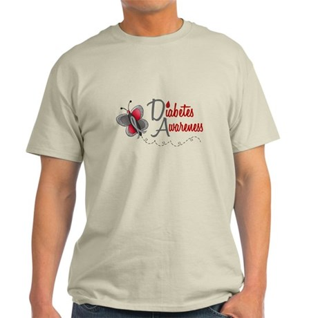 Diabetes Awareness 1 Butterfly 2 Light T-Shirt