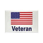 American Flag Veteran Rectangle Magnet (10 pack)