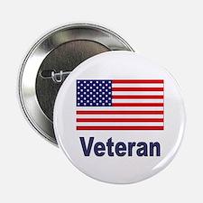 "American Flag Veteran 2.25"" Button (10 pack)"