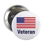 American Flag Veteran Button