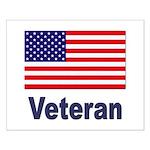 American Flag Veteran Small Poster