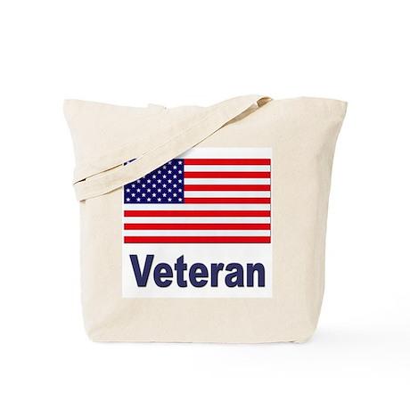 American Flag Veteran Tote Bag