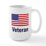 American Flag Veteran Large Mug