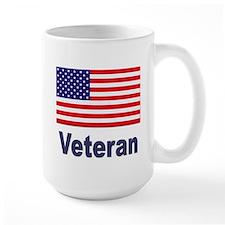 American Flag Veteran Mug