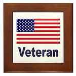 American Flag Veteran Framed Tile
