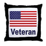 American Flag Veteran Throw Pillow