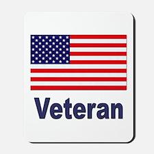 American Flag Veteran Mousepad