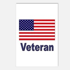 American Flag Veteran Postcards (Package of 8)
