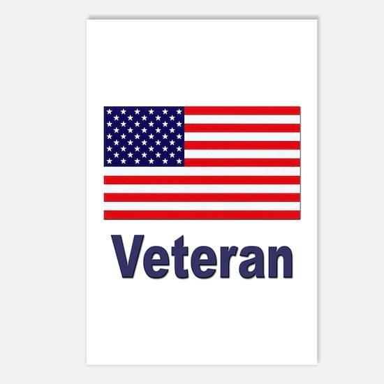 American Flag Veteran Postcards (Package of 8)