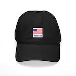 American Flag Veteran Black Cap