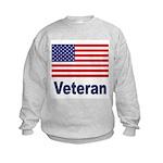 American Flag Veteran Kids Sweatshirt