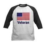 American Flag Veteran Kids Baseball Jersey