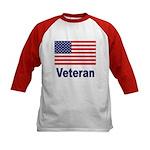 American Flag Veteran (Front) Kids Baseball Jersey