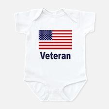 American Flag Veteran Infant Creeper