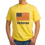 American Flag Veteran Yellow T-Shirt