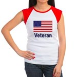 American Flag Veteran Women's Cap Sleeve T-Shirt