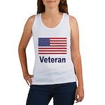 American Flag Veteran Women's Tank Top