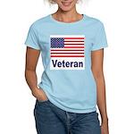 American Flag Veteran (Front) Women's Pink T-Shirt