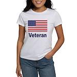 American Flag Veteran Women's T-Shirt