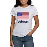 American Flag Veteran (Front) Women's T-Shirt