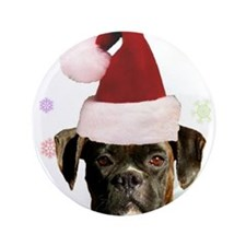 "Christmas Boxer Dog 3.5"" Button"