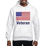 American Flag Veteran (Front) Hooded Sweatshirt