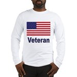 American Flag Veteran Long Sleeve T-Shirt