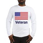 American Flag Veteran (Front) Long Sleeve T-Shirt