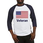 American Flag Veteran (Front) Baseball Jersey