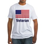 American Flag Veteran (Front) Fitted T-Shirt