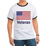 American Flag Veteran (Front) Ringer T