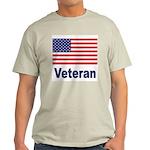 American Flag Veteran (Front) Ash Grey T-Shirt