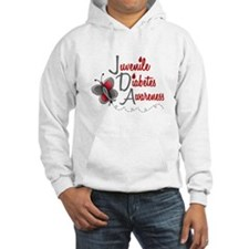 Juvenile Diabetes Awareness 1 Butterfly 2 Jumper Hoody