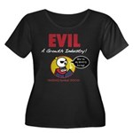 EVIL Women's Plus Size Scoop Neck Dark T-Shirt