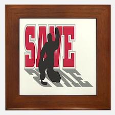 Hockey Goalie: Save Framed Tile