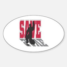 Hockey Goalie: Save Oval Decal
