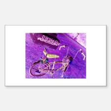 Banana Seat Lowrider Bike Rectangle Decal