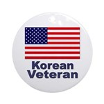 Korean Veteran Ornament (Round)