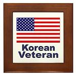 Korean Veteran Framed Tile